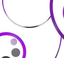 Asexual in Circular Gallifreyan Sticker