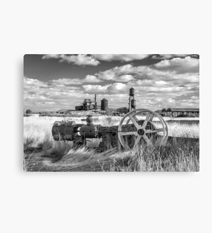 The Old Lumber Mill BW Canvas Print