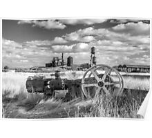 The Old Lumber Mill BW Poster