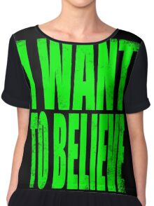I WANT TO BELIEVE Chiffon Top