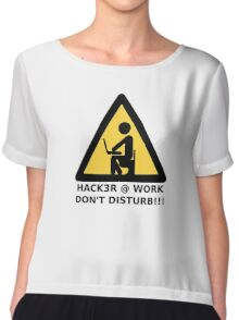 Hacker at work Chiffon Top