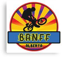 MOUNTAIN BIKE BANFF ALBERTA CANADA BIKING MOUNTAINS Canvas Print