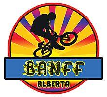 MOUNTAIN BIKE BANFF ALBERTA CANADA BIKING MOUNTAINS Photographic Print