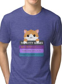 Cats & Books Tri-blend T-Shirt