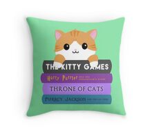 Cats & Books Throw Pillow