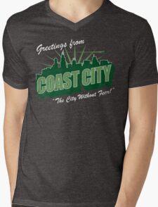 Greetings From Coast City Mens V-Neck T-Shirt