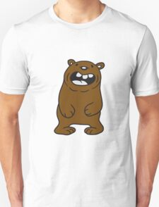 funny comic cartoon bear fat grin laughing dick big cuddle grizzly Unisex T-Shirt