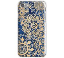 Blue and Gold Mandala Pattern iPhone Case/Skin