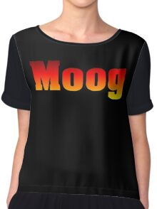 Vintage Colorful  Moog Chiffon Top