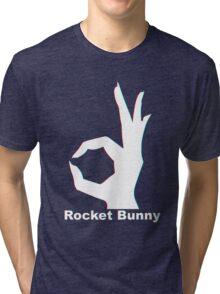 Rocket Bunny - 3D Logo Tri-blend T-Shirt