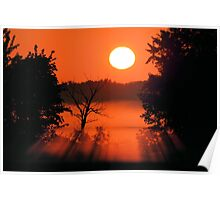 Morning at the Marsh Poster