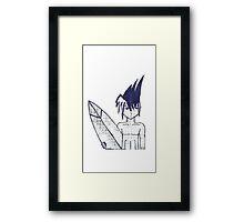 Aqua Boy Framed Print