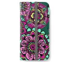 Mandala Pattern Green Pink Yellow iPhone Wallet/Case/Skin