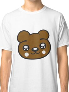 funny face head young sweet cute comic cartoon teddy Classic T-Shirt
