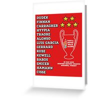 Liverpool 2005 Champions League Final Winners Greeting Card