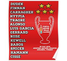 Liverpool 2005 Champions League Final Winners Poster