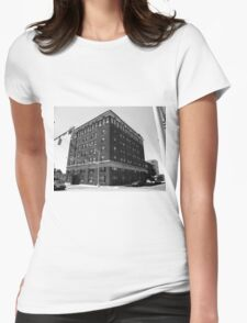 Burlington, North Carolina - Main Street Womens Fitted T-Shirt