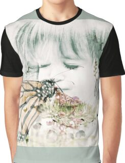Butterfly Kisses- Sage Green Border Graphic T-Shirt