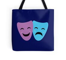 Blue and Purple Comedy and Tragedy Drama Masks Tote Bag