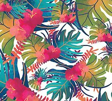 Tropical Leaves by turkush