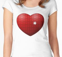 Puzzle Heart missing last piece Women's Fitted Scoop T-Shirt