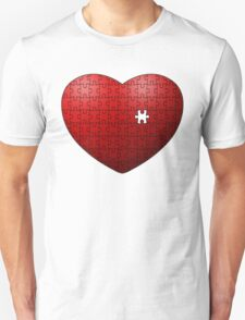 Puzzle Heart missing last piece Unisex T-Shirt