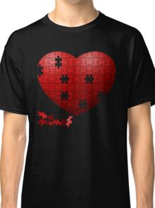 Puzzle Heart in pieces, missing some pieces to complete Classic T-Shirt
