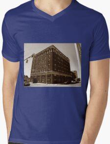 Burlington, North Carolina - Main Street Mens V-Neck T-Shirt