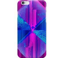 Retro Wave Neon Diamond - Glitch Art Print iPhone Case/Skin