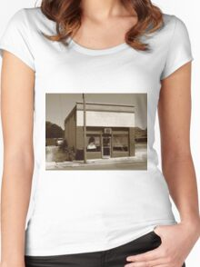 Burlington, North Carolina - Small Town Business Women's Fitted Scoop T-Shirt