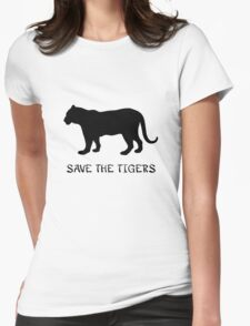 Save the Tigers Womens Fitted T-Shirt