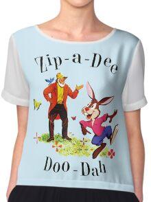 "Uncle Remus and Brer Rabbit ""Zip-A-Dee Doo-Dah"" Shirt Chiffon Top"