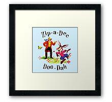 """Uncle Remus and Brer Rabbit """"Zip-A-Dee Doo-Dah"""" Shirt Framed Print"""