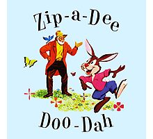 "Uncle Remus and Brer Rabbit ""Zip-A-Dee Doo-Dah"" Shirt Photographic Print"
