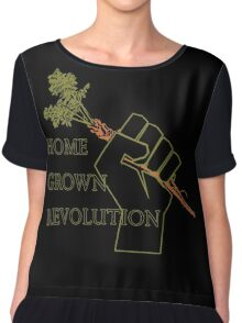 Home Grown revolution Fist of Solidarity  Chiffon Top