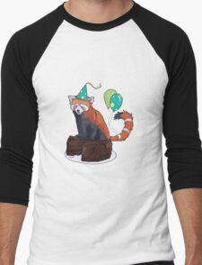 Red Panda Party Men's Baseball ¾ T-Shirt