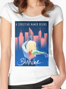 Blanche - NYC Women's Fitted Scoop T-Shirt