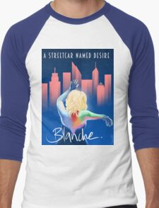 Blanche - NYC Men's Baseball ¾ T-Shirt