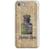 Lavender Bath Salts Old Book Page Vintage Illustration iPhone Case/Skin