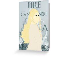 Daenerys Targaryen Greeting Card