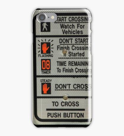 Crosswalk Instruction Sign iPhone Case/Skin