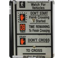 Crosswalk Instruction Sign iPad Case/Skin