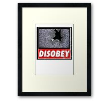 Disobey TV Framed Print