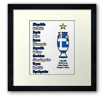 Greece 2004 Euro Winners Framed Print