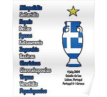 Greece 2004 Euro Winners Poster
