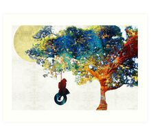 Colorful Landscape Art - The Dreaming Tree - By Sharon Cummings Art Print