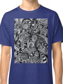 Drawing floral abstract background Classic T-Shirt