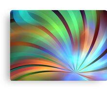 Spectrum Leaves Canvas Print