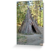 Tepee Hut Greeting Card
