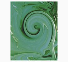 Untitled ABSTRACT60-green swirl / Clothing + Products Design Kids Tee